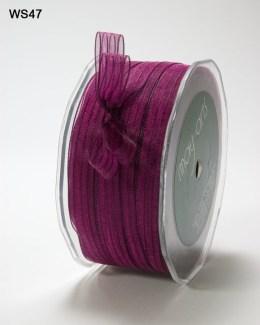 Fuchsia and Dark Purple Sheer Iridescent Pinstripe Ribbon