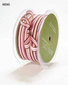 Pink,Brown and Fuchsia Grosgrain Striped Ribbon