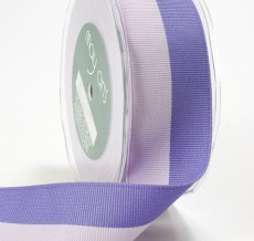 Lavender and Purple Grosgrain Two Band Ribbon