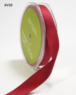 Burgundy Double Faced Faux Suede Ribbon
