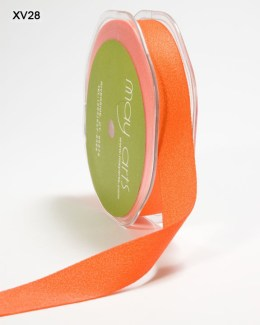 Orange Double Faced Faux Suede Ribbon