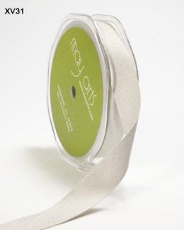 Silver Double Faced Faux Suede Ribbon