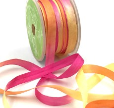 fuchsia orange yellow tie dye silk ribbon