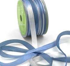 Light Blue White Slate Blue Tie Dye Silk