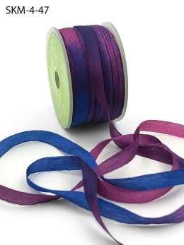 Violet Dark Puple Cobalt Blue Tie Dye Silk