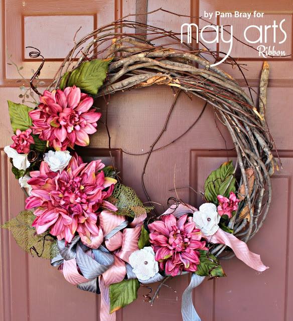 "wreath 597-1.5""x25y Woven Hidden Arrow Ribbon"