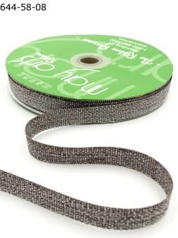 taupe pewter metallic sparkle grosgrain ribbon