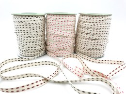 """3/8"""" double stitched cotton ribbons"""