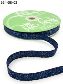 navy blue metallic sparkle grosgrain ribbon