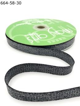 metallic black sparkle glitter grosgrain ribbon