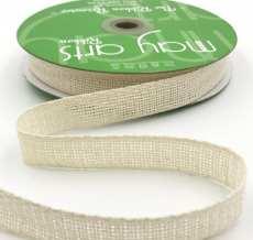 ivory soft open weave gauze ribbon