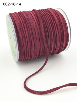 red 100% leather string suede cord