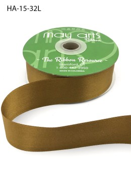 brass gold antique gold double face satin ribbon