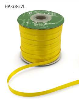 yellow double face satin ribbon