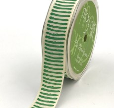 green paint stripe cotton ribbon