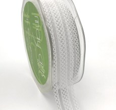 white batiste elastic lace ribbon