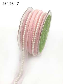 light pink pearl lace ribbon