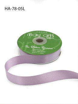 lavender purple double face satin ribbon