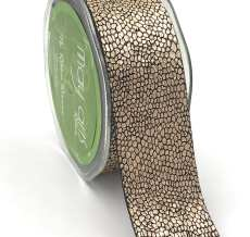 rose gold metallic snake skin ribbon