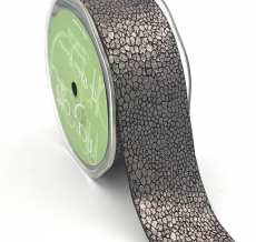 charcoal gray metallic snake skin ribbon
