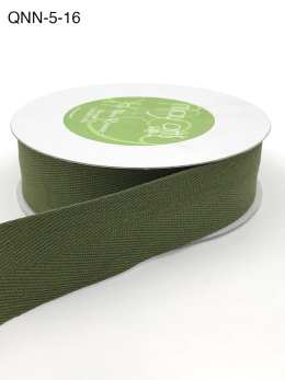 olive green twill cotton ribbon