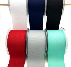 Wide grosgrain ribbons
