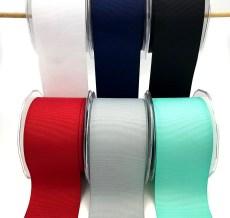 Wide grosgrain ribbons