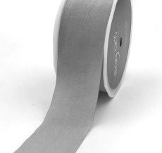 gray faux silk nylon ribbon
