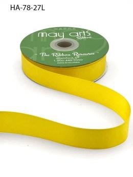 yellow double face satin ribbon