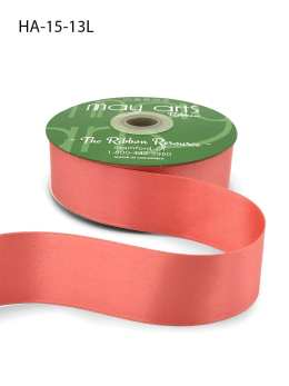coral pink double face satin ribbon