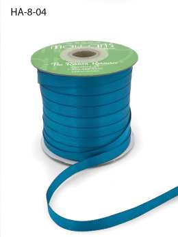 teal double face satin ribbon