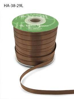 soft brown double face satin ribbon