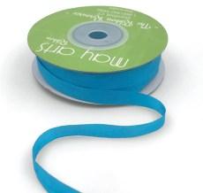 Atomic Neon Blue Hand Dyed Silk Ribbon