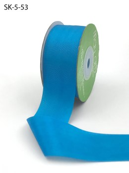 Atomic Neon Blue Hand Dyed Silk Ribbon