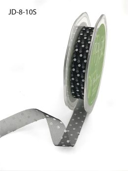 black and white swiss dots polka dot organza ribbon