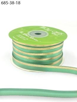 mint green gold foil satin invitation ribbon