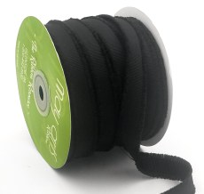 black fuzzy grosgrain ribbon