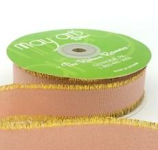 mauve metallic gold fringe grosgrain ribbon