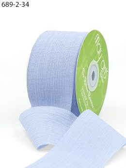 light blue crinkle chiffon wedding ribbon
