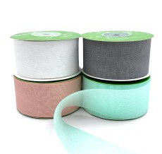 iridescent organza ribbons