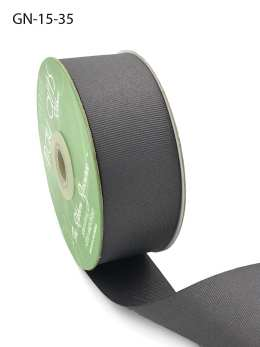 1.5 Inch Light-Weight Flat Grosgrain Ribbon with Woven Edge - GN-15-35 Stormy Grey