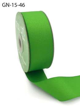 1.5 Inch Light-Weight Flat Grosgrain Ribbon with Woven Edge - GN-15-46 PARROT GREEN