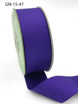 1.5 Inch Light-Weight Flat Grosgrain Ribbon with Woven Edge - GN-15-47 PURPLE