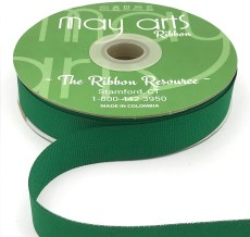green grosgrain ribbon
