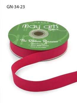~3/4 Inch Light-Weight Flat Grosgrain Ribbon with Woven Edge - GN-34-23 Light Fuschia