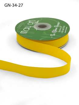~3/4 Inch Light-Weight Flat Grosgrain Ribbon with Woven Edge - GN-34-27 Yellow