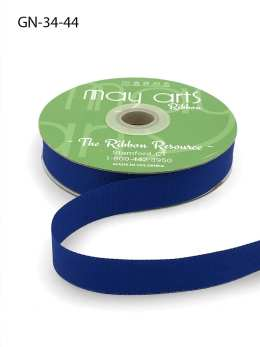 ~3/4 Inch Light-Weight Flat Grosgrain Ribbon with Woven Edge - GN-34-44 Royal Blue