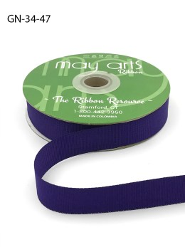 ~3/4 Inch Light-Weight Flat Grosgrain Ribbon with Woven Edge - GN-34-47 Purple