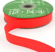 ~3/4 Inch Light-Weight Flat Grosgrain Ribbon with Woven Edge - GN-34-59 Neon Coral