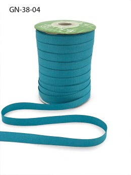 ~3/8 Inch Light-Weight Flat Grosgrain Ribbon with Woven Edge - GN-38-04 Teal